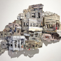 The-City-Island-5-3D-collaged-newspaper-17.7-x-38-2019